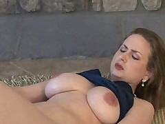 Thick busty mature wife solo
