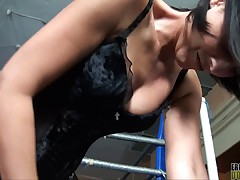 Smothering In Corset Femdom