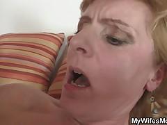 She fucks her horny son's friend