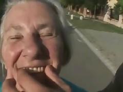 Gummy Old Granny Fucks Two Guys