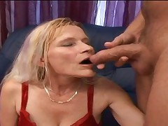 Granny Gabi gets fucked and gets a facial