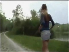 Humiliating Walk Outdoors by snahbrandy