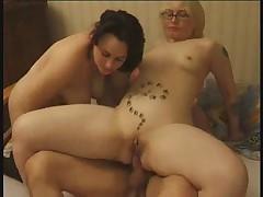 French hardcore anal gangbang