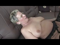 Hot German Mature Gets Pounded on Couch