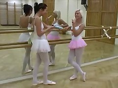 Dance and Gym Teen Lesbians Having Fun