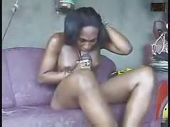 Big cock tgirl eats her own cum