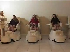 Three White Girls in Japanese Massage Parlor (part #2)