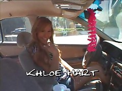 Tgirl Khloe Strokes her Cock and Uses Dildo