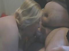 Mature BBW nurses on her hubby bear's cock