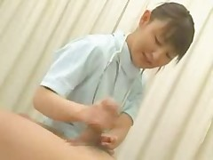 Japanese nurse handjob - censored
