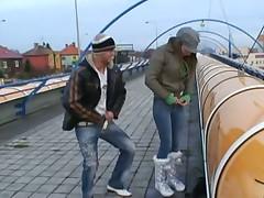 Public sex at a train station