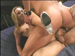 Two dicks are a challenge for her