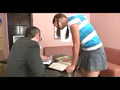 Partisan with pigtails fucks teacher