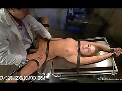Doctor Gives Anal Sex With Cumshot On Bondage Blonde