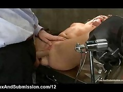 Big Cocked Doctor Fucks Bound Blonde In Pussy And Ass