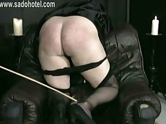 Naughty Nun With Her Skirt Up Is Bending Over And Is Spanked..