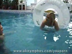 Hot Blonde Fucked At The Pool