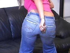 Jerk Off Teacher In Jeans Humiliates Men With Small Cocks