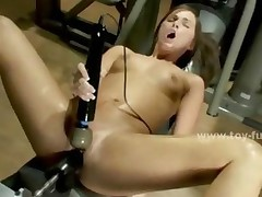 Babe Discovers Secret Room Filled With Fucking Machines..