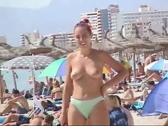 Puffy Titties on Beach