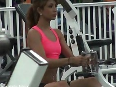 Horny Brunette Teen Fucked After Gym