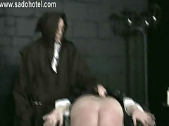 Nun Slave With Her Panties Down Is Spanked On Her Ass And..