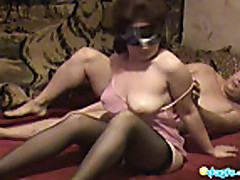 Smooth ass milf blindfolded banging