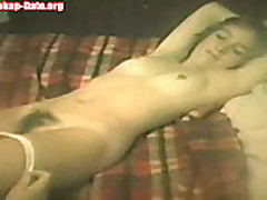 Homemade hairy girlfriend pussy licked