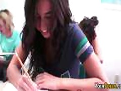 Lesbian Students Eat Pussy On Camera