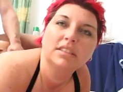 redhead fucked on bed
