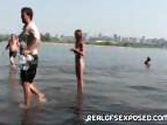Fishing with some nude Russian teens
