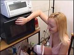 Piss: Hot Blonde drinks instant soup with piss