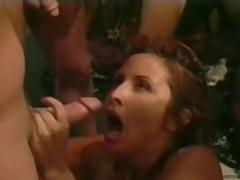 Inredible Leena La Bianca in a gang bang scene