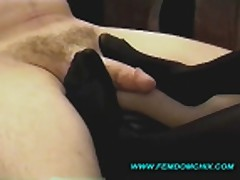 Cockteaser in Stockings and Heels