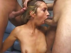 Doe eyed blonde does what she does BEST