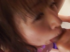Asian pussy dildo teased into extasy