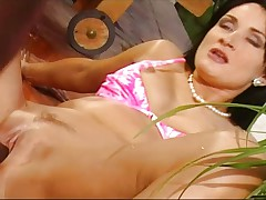 Sandra Kay gives a black guy in the ass