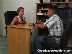 Cheerleader aspirant applies for Membership