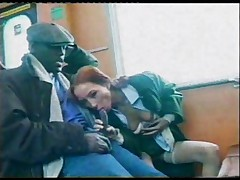 Swedish redhead Amandla loves sex in public