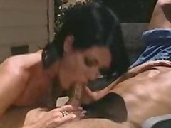Jeanna Fine takes charge and fucks him outside