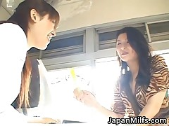 Horny Japanese MILFS Sucking And Fucking Cock JAV 1 By JapanMilfs