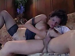 Busty MILF ass fucked by stud