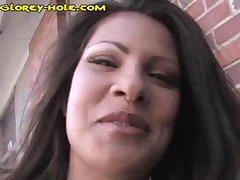 Brunette Masturbates And Finds A Ghole Cock