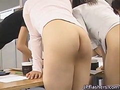 Pretty Asian Secretaries Are Working In The Nude Office 1 By JPflashers