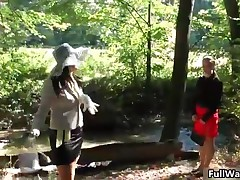 Two Sexy Euro Babes Getting Wet And Wild In A Forest Outdoor By FullWam