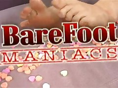 Katerina Kat - Bare Foot Maniacs - Blonde Foot Freak Licks Cum Of Toes