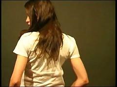 Young brunette masturbation session