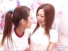 School Girl Rubs Office Lesbian