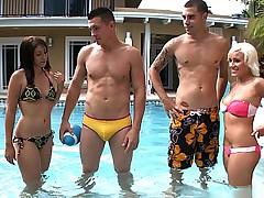 Brandi, her friends and two guys
