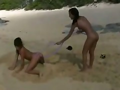 Teen on the beach Nudist Lesbo